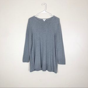 J.Jill Gray Knitted Pullover Sweater Size 1X
